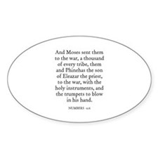 NUMBERS 31:6 Oval Decal