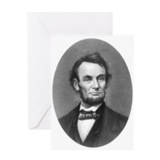 Pres. Abraham Lincoln Cameo Greeting Card