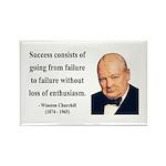 Winston Churchill 21 Rectangle Magnet (10 pack)