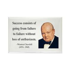 Winston Churchill 21 Rectangle Magnet