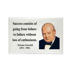 Winston Churchill 21 Rectangle Magnet