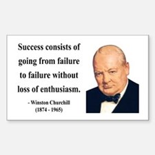 Winston Churchill 21 Rectangle Decal