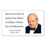 Winston Churchill 21 Rectangle Sticker