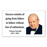 Quote churchill Stickers