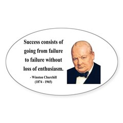 Winston Churchill 21 Oval Decal