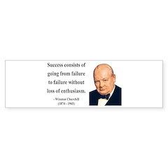Winston Churchill 21 Bumper Bumper Sticker
