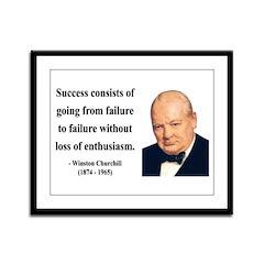 Winston Churchill 21 Framed Panel Print