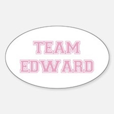 TEAM EDWARD (pink) Oval Decal