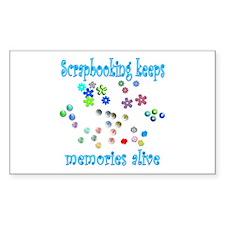 Scrapbooking Rectangle Sticker 10 pk)