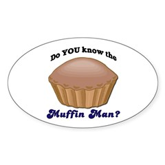 Muffin Man Oval Decal