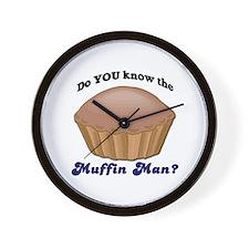 Muffin Man Wall Clock