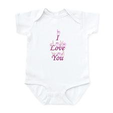 I Love You fingerspelled Infant Bodysuit