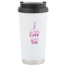 I Love You fingerspelled Travel Mug