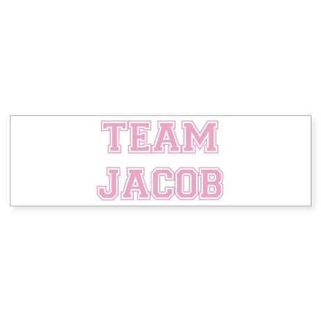 TEAM JACOB (pink) Bumper Sticker