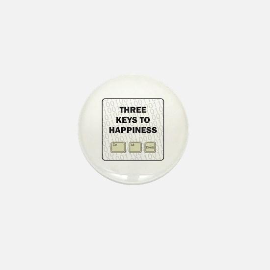Happiness Mini Button