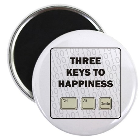 """Happiness 2.25"""" Magnet (100 pack)"""