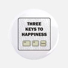 "Happiness 3.5"" Button (100 pack)"