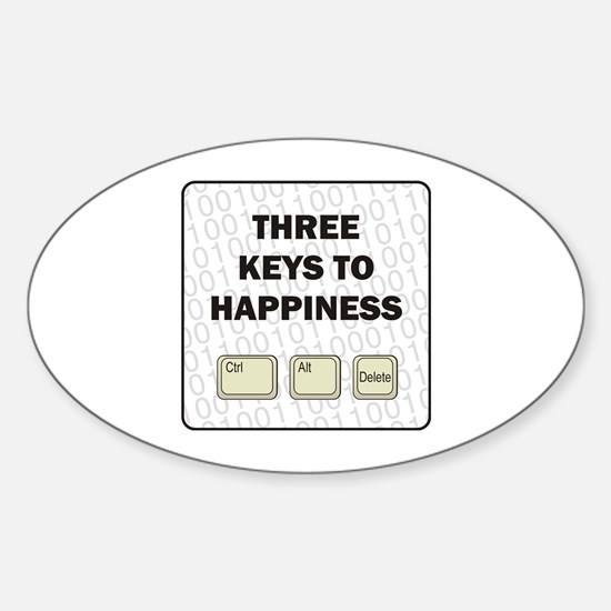 Happiness Oval Decal