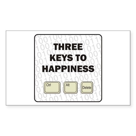 Happiness Rectangle Sticker