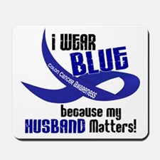 I Wear Blue For My Husband 33 CC Mousepad