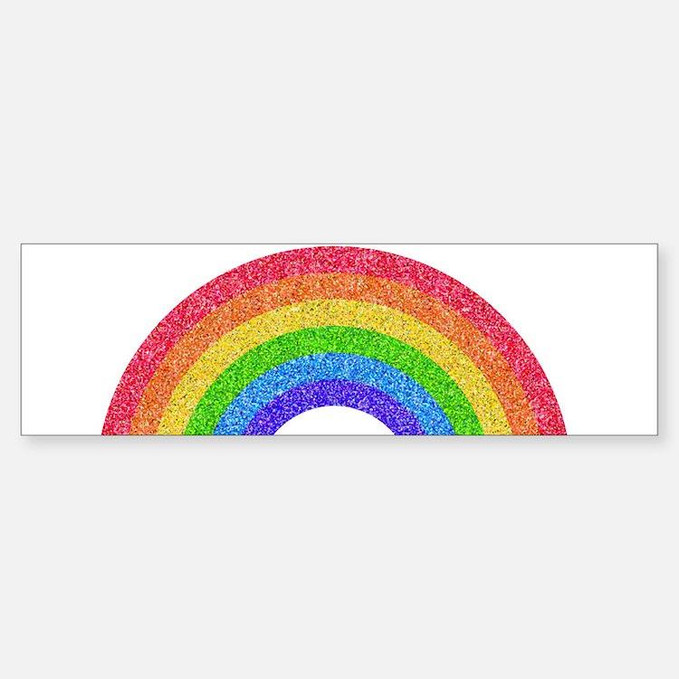 Sparkle Rainbow Bumper Bumper Bumper Sticker