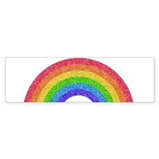 Sparkle Rainbow Bumper Bumper Sticker