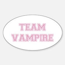TEAM VAMPIRE (pink) Oval Decal