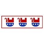 Dead Republican Elephant Bumper Sticker