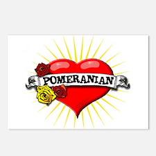Pomeranian Heart Postcards (Package of 8)