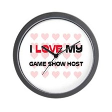 I Love My Game Show Host Wall Clock