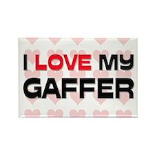 I Love My Gaffer Rectangle Magnet