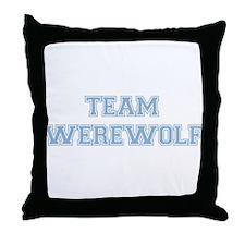TEAM WEREWOLF (blue) Throw Pillow