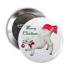 Saanen Goat Kid Xmas Button