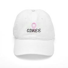 AIMEE pink ribbon Baseball Cap