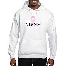 AIMEE pink ribbon Hoodie