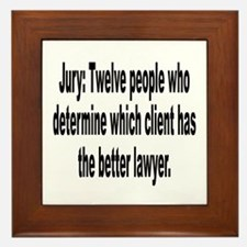Jury, Lawyer and Justice Humor Framed Tile
