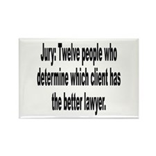 Jury, Lawyer and Justice Humor Rectangle Magnet