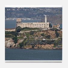 alcatraz island Tile Coaster