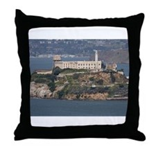alcatraz island Throw Pillow