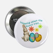 """Hopping Down the Bunny Trail 2.25"""" Button"""