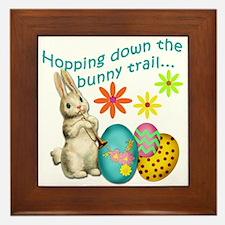 Hopping Down the Bunny Trail Framed Tile