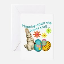 Hopping Down the Bunny Trail Greeting Cards (Pk of