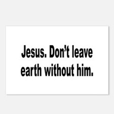 Don't Leave Without Jesus Postcards (Package of 8)