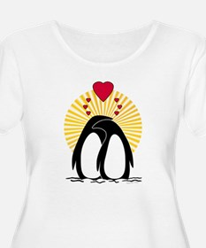 Loving Penguins Plus Size T-Shirt