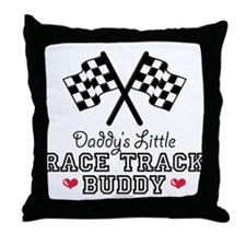 Daddy's Little Race Track Buddy Throw Pillow