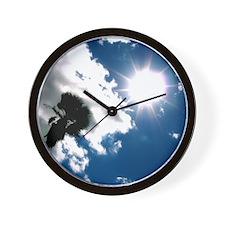Palm & Sun Wall Clock