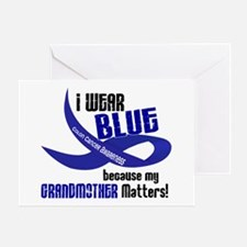I Wear Blue For My Grandmother 33 CC Greeting Card