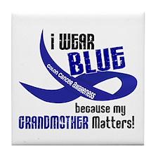 I Wear Blue For My Grandmother 33 CC Tile Coaster
