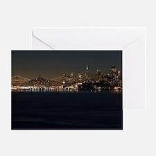 san Francisco bay night Greeting Card