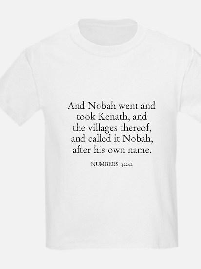 NUMBERS  32:42 Kids T-Shirt